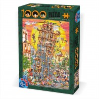 CARTOON PUZZLE 1000 - PISA